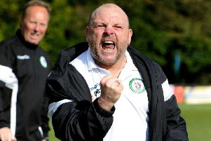 Burgess Hill Town boss Ian Chapman is confident that he is the right man to turn Hill's poor form around ahead of their league trip to high-flying Bognor Regis Town tonight. Picture by Steve Robards.