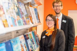 One of the Co-op's Travel Managers Lisette Barnes and Assistant Manager Paul Newton. Picture: John Aron,