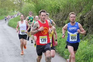 Ali Herbert led the way for Cherwell Runners at Horspath. Photo: Barry Cornelius