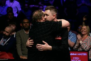 It was heartbreak for Kyren Wilson as he lost to Mark Allen in the final of the Masters last year. But the Kettering man is hoping to go one better in 2019