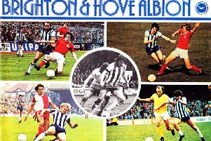The front cover of the programme when Albion played  United in 1980
