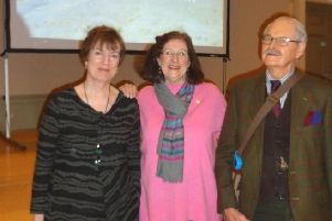 (L to R) Lecturer Kathy McLauchlan; Arts Society Chichester Chairman, Susie Jardine; and Society Member Mervyn Kilpatrick.