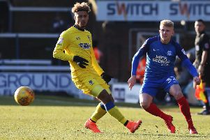 Posh left-back Lewis Freestone could be playing for Bedford against Peterborough Sports.