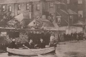 Boats were the best form of transport in 1899 when stormy seas came over the promenade and flooded York Road and other parts of Bognor