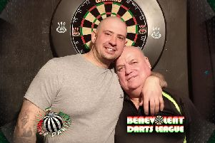Rob Collins (left, pictured with Andy Stubbs) did well at PDC qualifying school
