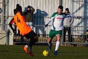 Brad Lethbridge shoots - and it goes in for the equaliser / Picture by Tommy McMillan