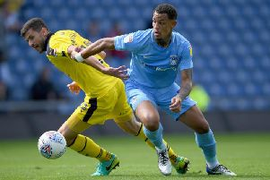 Coventry striker Jonson Clarke-Harris (Photo by Stu Forster/Getty Images)