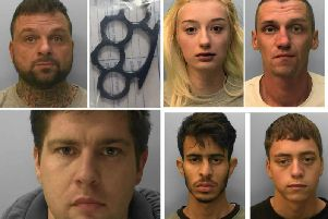 Some of the criminals jailed in Sussex in January