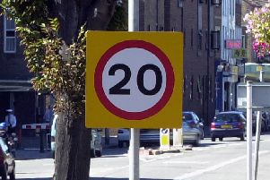 20mph speed limit sign