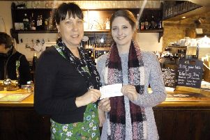 Cherida Plumb, community and events fundraising manager with Katharine House Hospice and Tanicha Bonham of the Three Conies NNL-190502-171821001