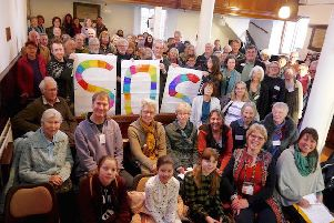 Climate change meeting held in Horsham and attended by Chichester city councillor Sarah Sharp
