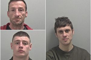 Right:Nathan Douglas, 29, from Rugby. Wanted in connection with breaches of a supervision order following his release from prison. Top left:Mark Hickling, 47, from Coventry. Wanted in connection with breaches of a court order. Has links to Coventry and North Warwickshire. Bottom left:Callum Crowe, 25, from Nuneaton. Wanted in connection with an assault inNuneaton.