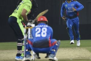 Rashid Khan bowling against Ireland