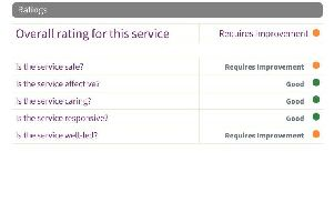 The ratings from the CQC report