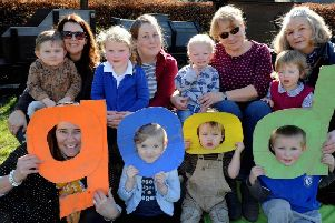 ks190098-1 Singleton Playschool Ofsted phot kate'Members of Singleton Playschool who were delighted with their rating of a Good Ofsted.ks190098-1