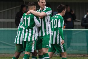 Kaleem Haitham is congratulated on his goal - which turned out to be the winner / Picture by Daniel Harker