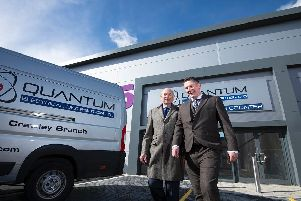 ouncillor Tony Dignum, Leader and Cabinet Member for the Economy at Chichester District Council with Tony Jenner, Managing Director of Quantum Electrical Distribution Ltd.