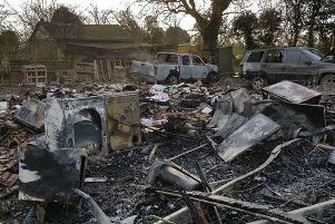 Emma shared this picture of the devastation caused by the fire. EMN-190603-102714001