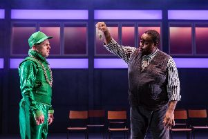 Harry Jardine & Clive Rowe (l-r) in In The Willows - UK Tour. Photo by Richard Davenport