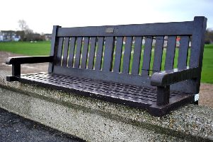 Memorial bench in East Beach, Selsey. Picture by Steve Robards