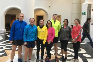Group leader Eric Winstone (second left) with members of the Lynch Wood Runners.