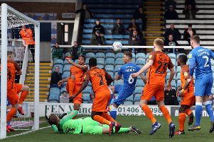 Action from Posh 2, Southend 0. Photo: Joe Dent/theposh.com.