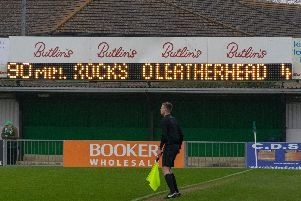 The scoreboard tells the story of a day to forget for the Rocks / Picture by Darren Crisp
