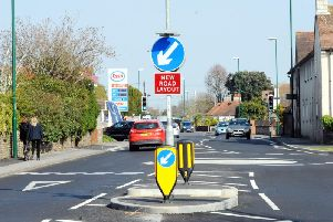 New mini roundabout in Felpham. Picture by Kate Shemilt