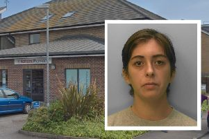 Megan Hammond was jailed for robbing Kamsons Pharmacy in Bognor (pictured). Picture: Google Streetview/Sussex Police