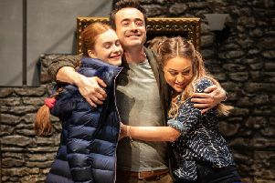 Persephone Swales-Dawson, Joe McFadden, Rita Simons in The House on Cold Hill. Picture: Helen Maybanks