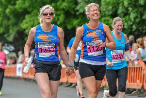 Tone Zone members head for the finish in the 2018 race