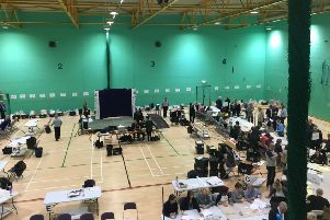 Chichester District Council election count at Westgate Leisure Centre