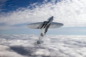 What the silver spitfire plane will look like SUS-190705-162631001