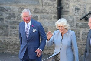 Press Eye - Belfast - Northern Ireland - 21st May 2019 - ''The Prince of Wales and  Duchess of Cornwall are pictured meeting people from local businesses and members of the public from Lisnaskea, Co Fermanagh during their 2 day visit to Northern Ireland. ''Picture Matt Mackey / Press Eye.