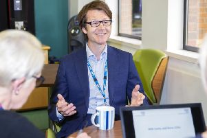 Toby Sanders has been leading the county's two clinical commissioning groups since November.