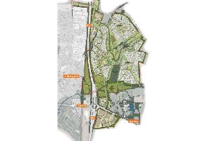 The masterplan for the Lutterworth east site