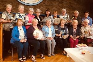 Trophy winners at Inver Area of Women's Institute Area Competitions.