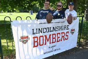 Under 18s rookie open day with Lincolnshire Bombers American Football. L-R Barry Howorth, Jake Blackburn and Steve Blackburn. EMN-190527-144917001