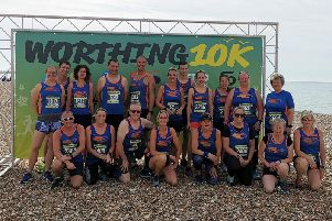 Bognor's Tone Zone team at the Worthing 10k