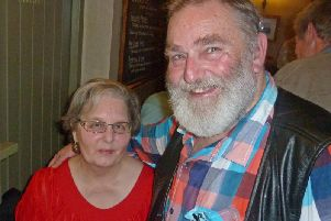 Carol and Richard Cookes car was targeted and a number of items were stolen, including the ashes of Carols mum Betty Albuery.