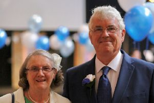 Mike Nicholls and his wife