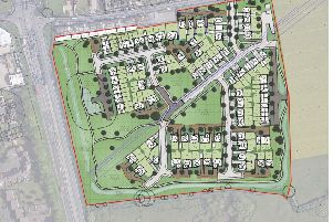 Masterplan for 100 new homes in Oving
