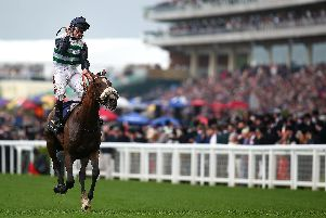 Oisin Murphy celebrates after he rides Dashing Willoughby to Queen's Vase glory at Royal Ascot. Picture: Charlie Crowhurst/Getty Images