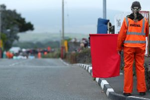 Wednesday evening's opening Sidecar race at the Southern 100 on the Isle of Man was red-flagged after an incident on the opening lap. Picture: Dave Kneen/Pacemaker Press.