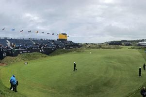 A general view of the 18th green during preview day four of The Open Championship 2019 at Royal Portrush Golf Club