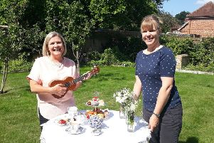 Zara Kelleway (left) and Rebecca Osborne, who are helping to organise the Garden Party