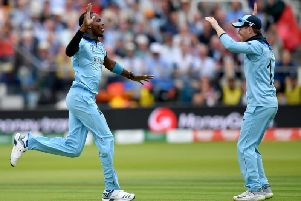 Jofra Archer in the World Cup final win over New Zealand / Picture: Getty Images