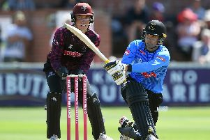 Alex Carey on his Sussex debut / Picture by Getty Images