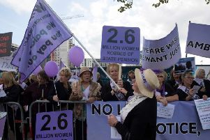 WASPI campaigners (Photo by Getty)