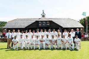West Wittering and the MCC line up for the match / Picture Sarah Williams Photography